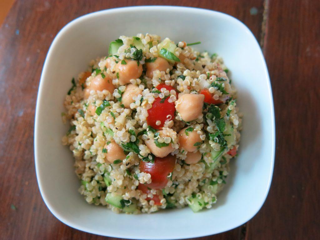 Quinoa Tabbouleh w chickpeas